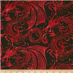0288529 Bali Batiks Dragons Volcano