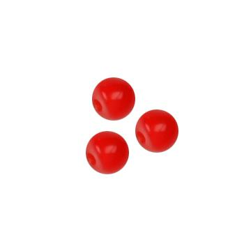 Novelty Button 1/8'' Petit Ball Red