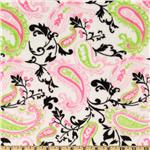 DB-367 Minky Cuddle Paisley  Hot Pink/Lime