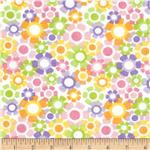 0271476 Alpine Flannel Pretty Floral Pink