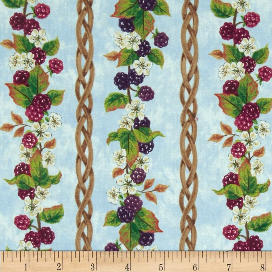 Berry Patch Berry Vine Stripes Blue/Multi