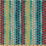 208607 Michael Miller Cosmos Collection Beaded Stripe Aqua