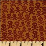 Gone Haunting Skulls Orange