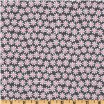 EM-548 Michael Miller It&#39;s A Girl Thing Daisy Flowers Bloom Grey