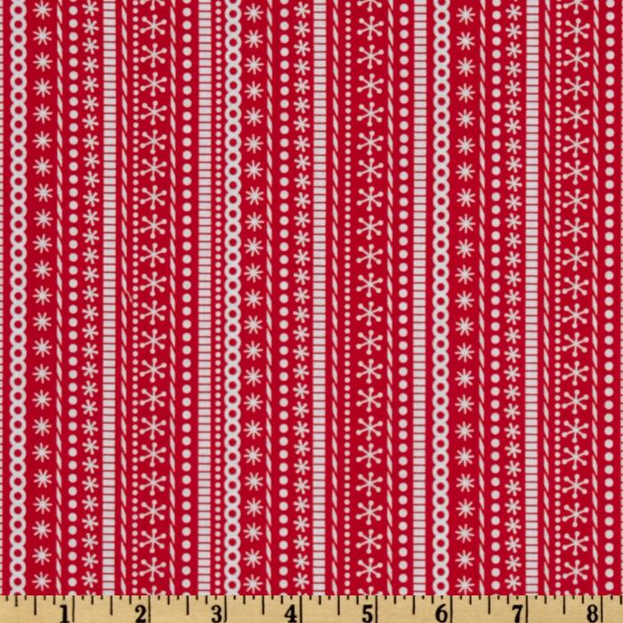 Santa&#39;s Workshop Stripe Red