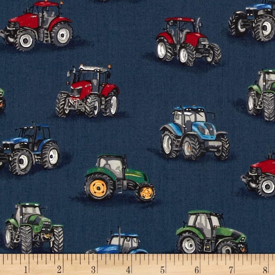 Farm Tractors Royal Blue