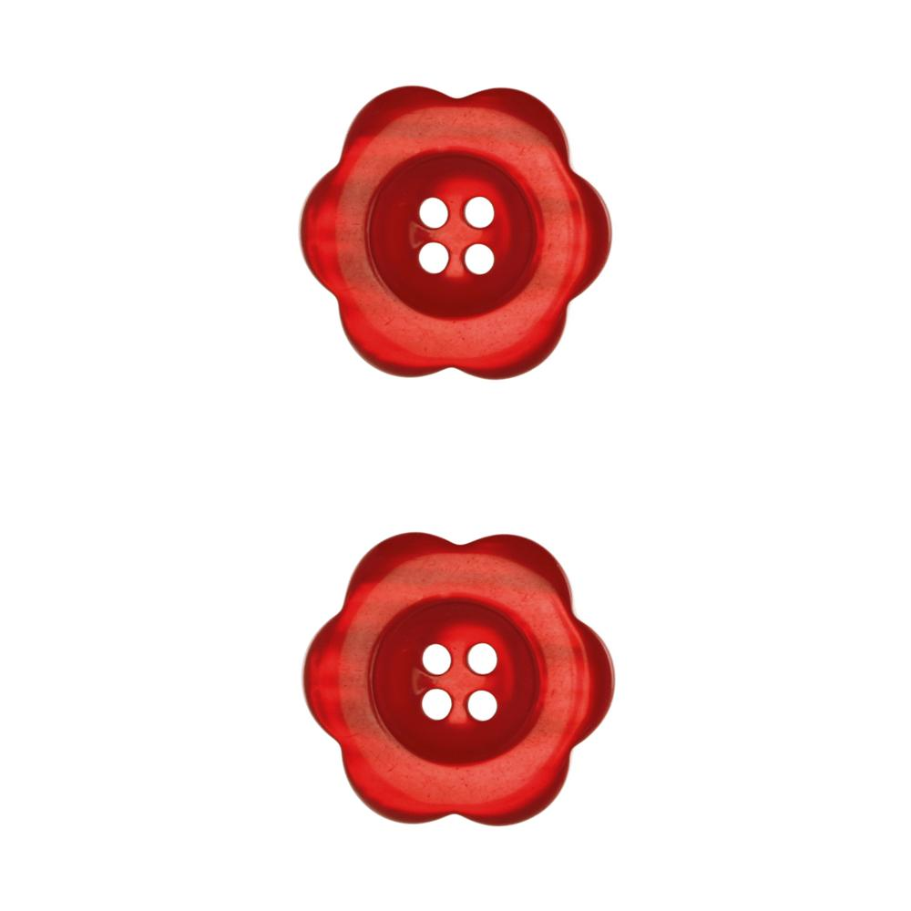 "Riley Blake Sew Together 1 1/2"" Flower Button Red"