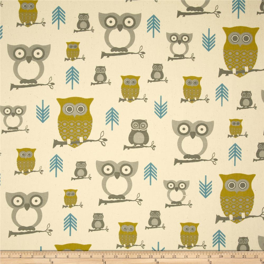 Premier Prints Hooty Summerland/Natural