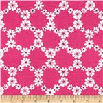 0273896 Michael Miller Happy Tones Jemma Floral Lattice Pink