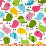 UN-921 Urban Zoologie Slicker Laminated Cotton Chicks Garden