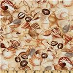 235165 Timeless Treasures Shell Tossed Shell