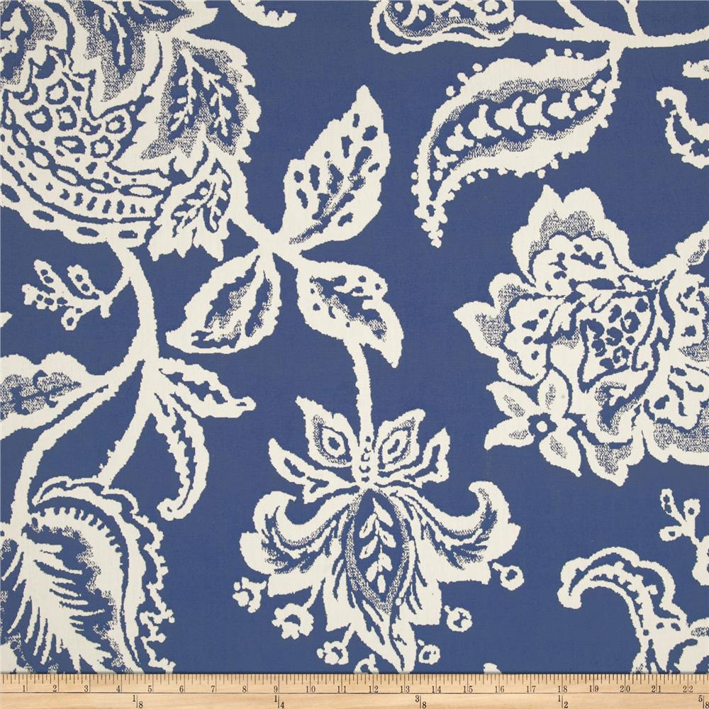 Robert Allen Jacobean Toss Jacquard Indigo