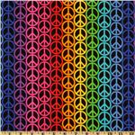Peace Signs Stripe Multi