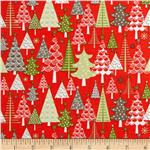0285740 Riley Blake A Merry Little Christmas Merry Trees Red
