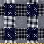 Madras Plaid Patchwork Navy