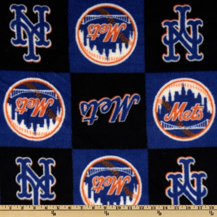 MLB Fleece New York Mets Orange/Royal