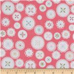 233844 Riley Blake Polka Dot Stitches Doily Pink
