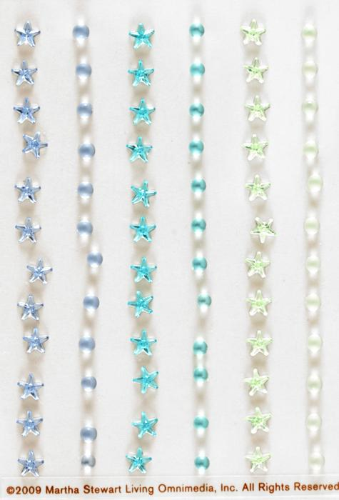 Martha Stewart Crafts Gem Stickers Stars & Blue Ombre