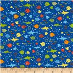 Tiny Prints Fish Royal Blue
