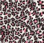 Minky Cuddle Leopard Ivory/Pink