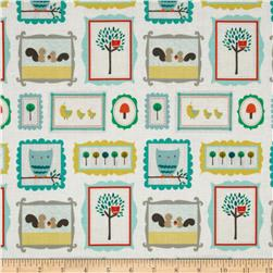 Riley Blake Scenic Route Critters Cream