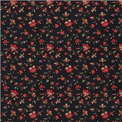Moda Wintergreen Vines & Florals Ebony
