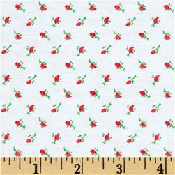 Aunt Polly's Flannel Rosebud Red
