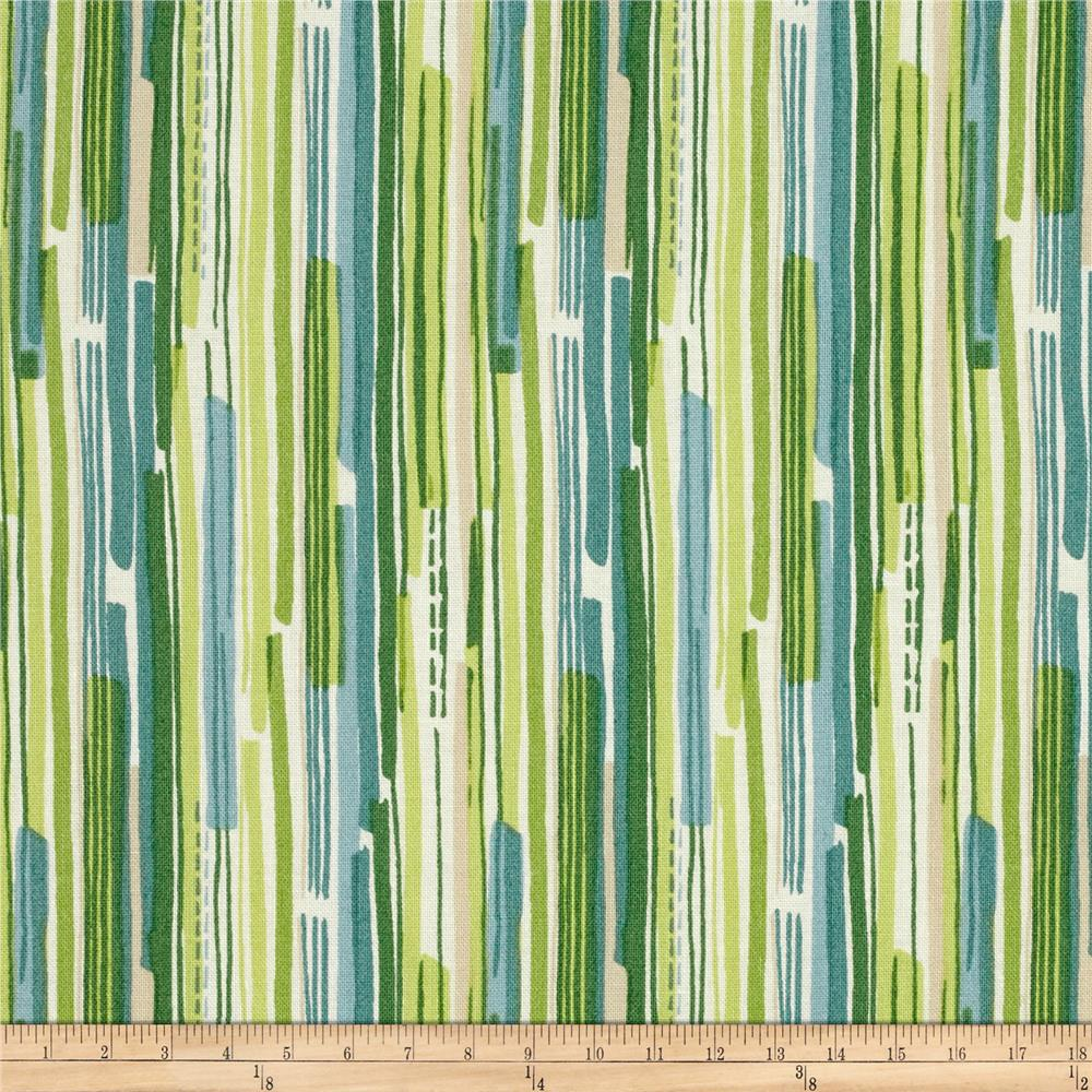 Modern Christmas Stripe Green