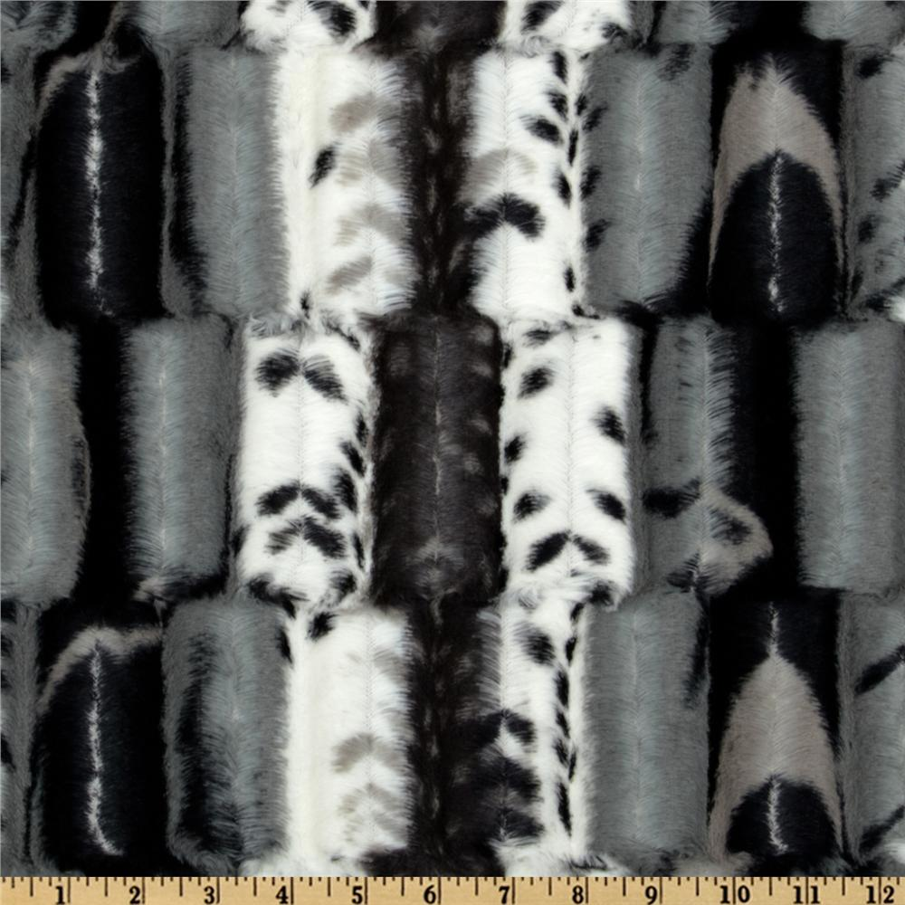 Minky Soft Cuddle Fancy Leopard Black/Grey
