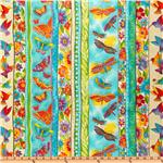 FC-420 Laurel Burch Flying Colors II Stripe Aqua