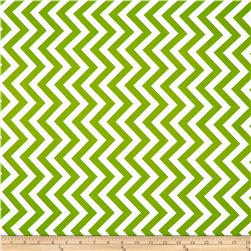 Moda Half Moon Modern Medium Zig Zag Lime