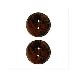 Precious Elements Stone Button 1'' Bonus Rock Brown