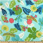 Robert Allen Indoor/Outdoor Baja Floral Turquoise