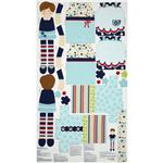 Dress Up Days Doll & Clothes Panel Blue