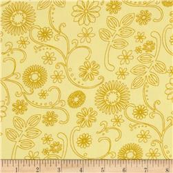 "110"" Wide Quilt Back Signature Yellow"