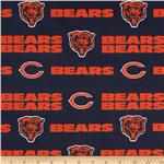 CK-205 NFL Cotton Broadcloth Chicago Bears Orange/Navy