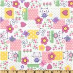 FT-492 Comfy Flannel Cartoon Cat Pink