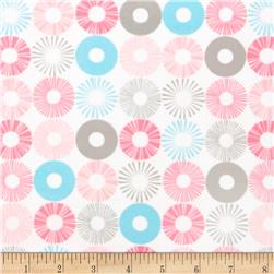 Cozy Cotton Flannel Circles Pink