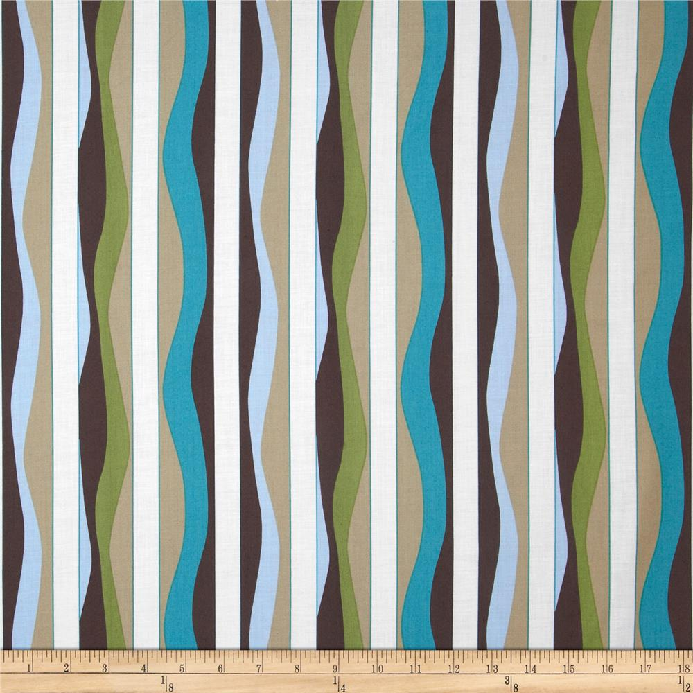 Mod 2010 Collection Stripe Teal