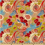 Katherine's Wheel Floral Red