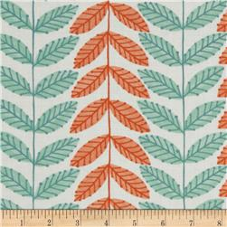 Moda Family Tree Leaf Stripe Cream