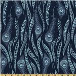 FV-526 Anna Maria Horner Field Study Fine Feathered Denim Blue