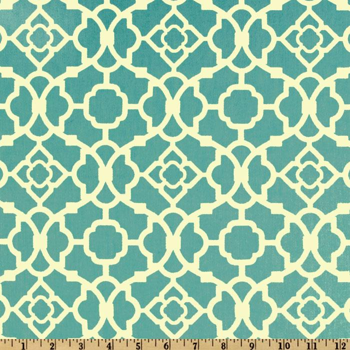 Waverly Lovely Lattice Sateen Aqua
