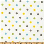 EU-445 Cozy Cotton Flannel Polka Dot Multi