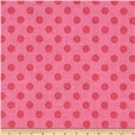 Riley Blake Small Dots Tone on Tone Hot Pink