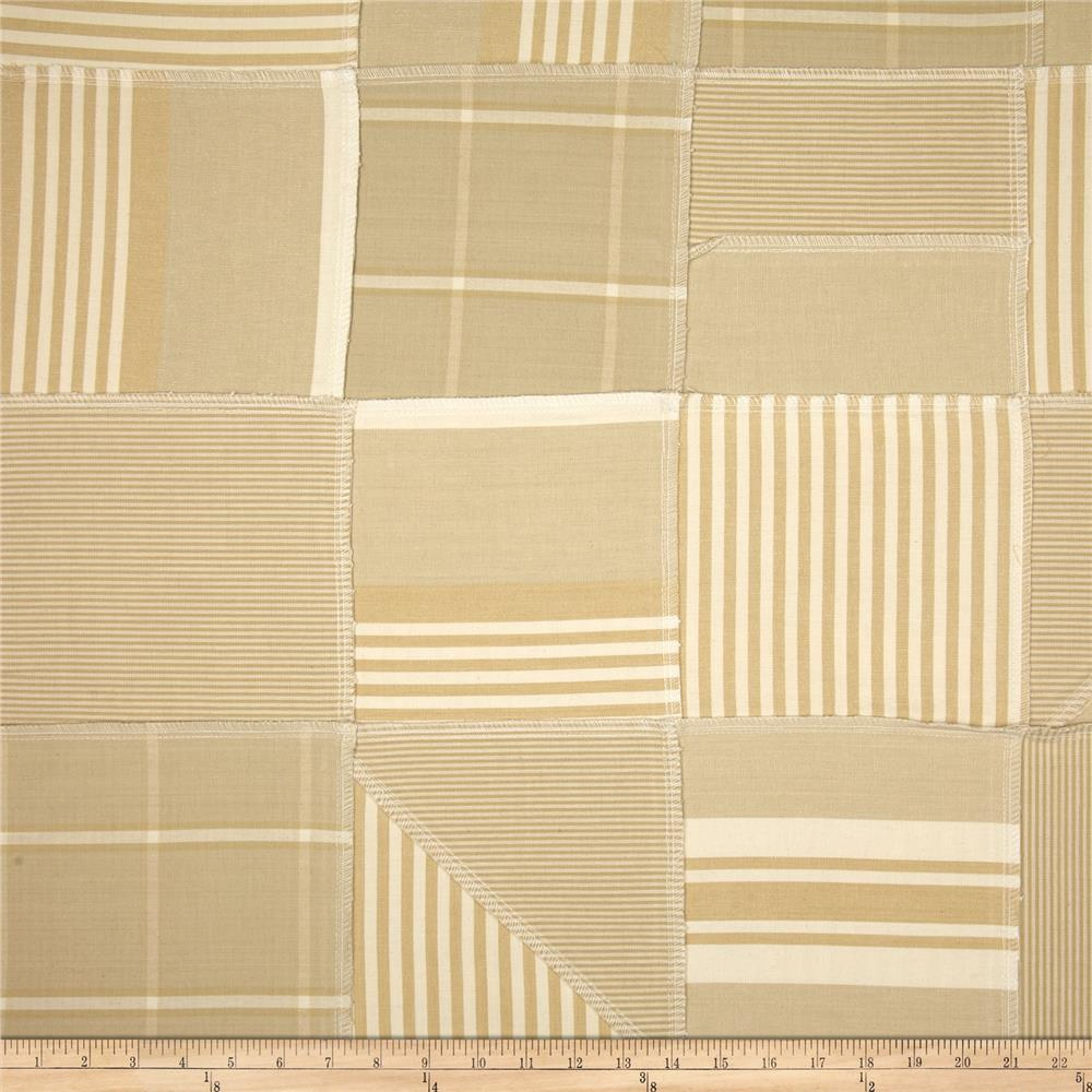 Benartex Home Iona Patchwork Stripe Hemp/Natural
