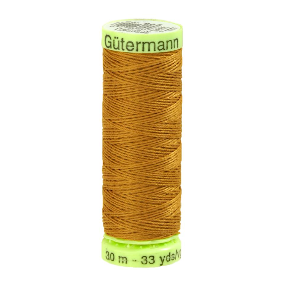 Gutermann Heavy Duty Polyester Topstitching Thread 30m/33yds Gold