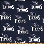 CK-214 NFL Cotton Broadcloth Tennessee Titans Navy/White