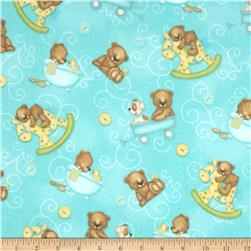 Bear Hugs Flannel Bear Toss Teal