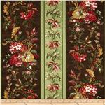 0278691 Cottage Garden Repeating Stripe Brown/Green